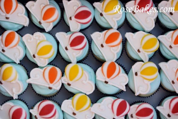 Hot Air Balloon Cupcakes