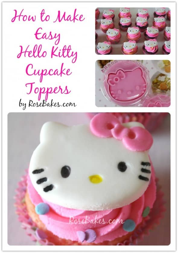 How to Make Easy Hello Kitty Cupcake Toppers
