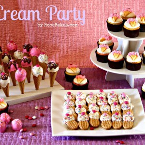 Ice Cream Shoppe Party with Cupcakes, Cake Pops & Cookies