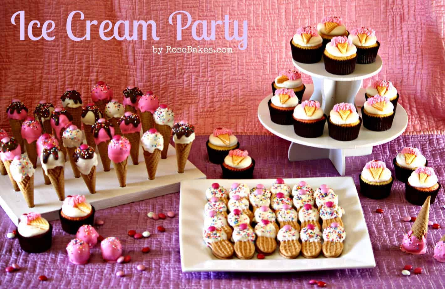 Ice Cream Party Cupcakes Cake Pops Amp Nutter Butter Ice
