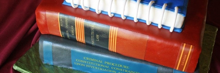 Law School Graduation Books Textbooks Grooms Cake