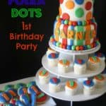 Polka Dots 1st Birthday Party Cake Cookies Cupcakes with Graphics