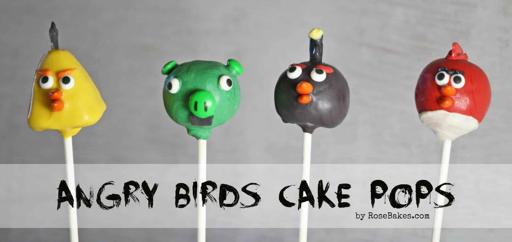 How To Make Angry Birds Cake Pops
