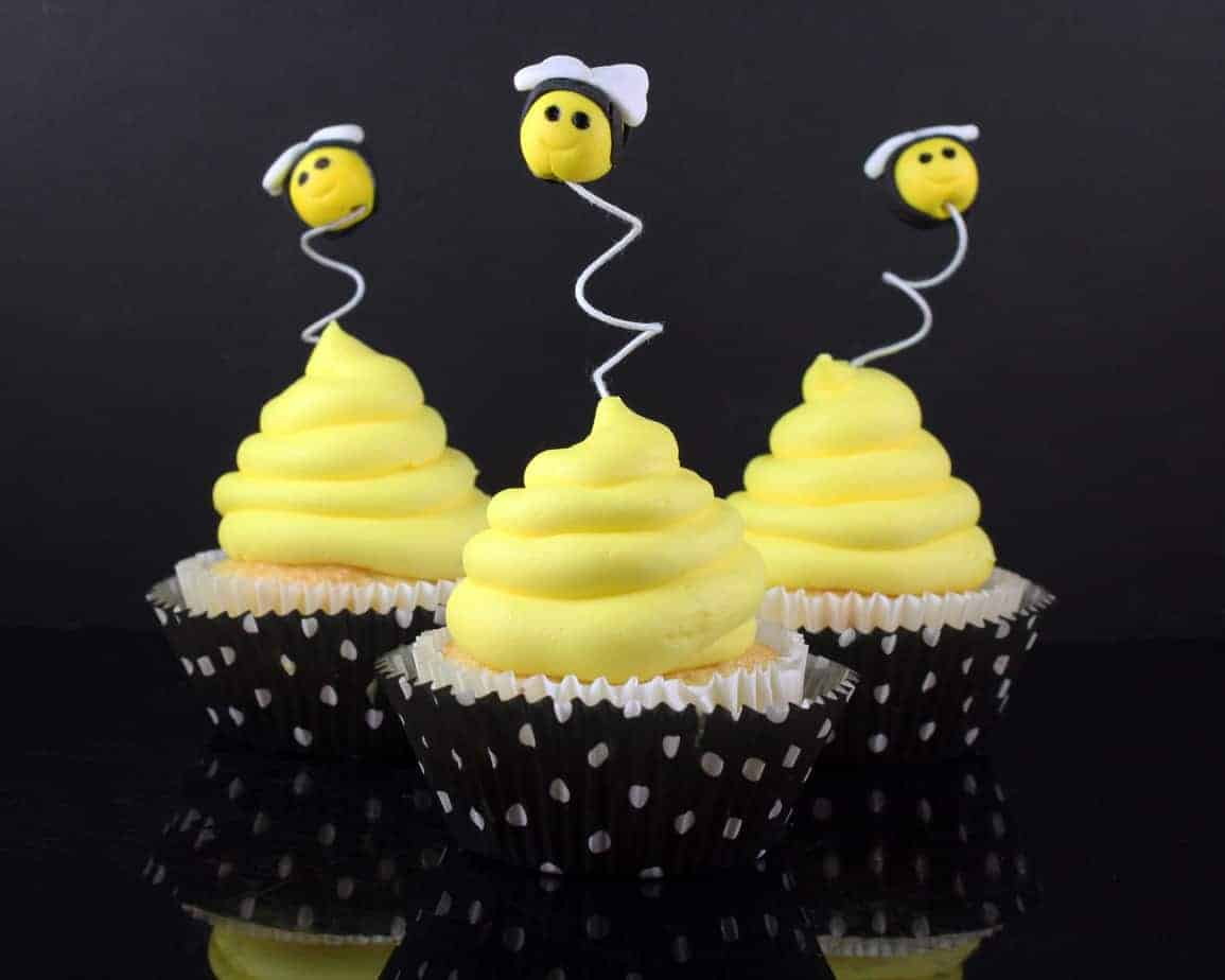 How To Make Bee Cupcake Toppers