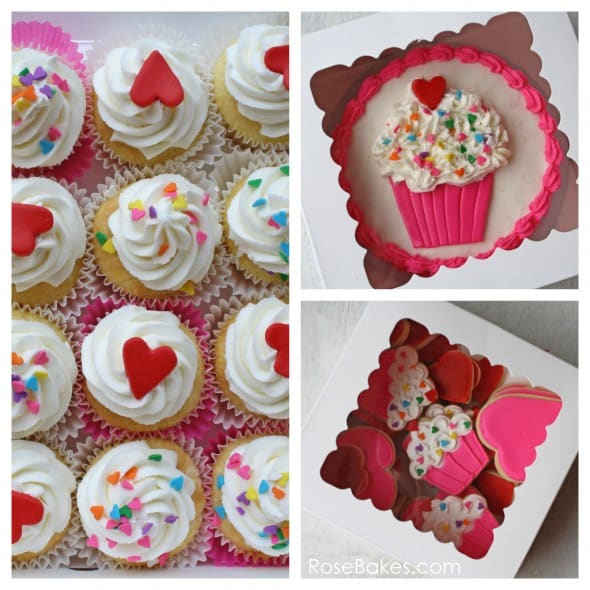 Cupcakes Amp Hearts 1st Birthday Party Cookies Cupcakes