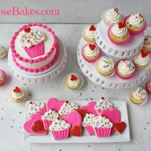 Cupcakes & Hearts Valentines 1st Birthday Party
