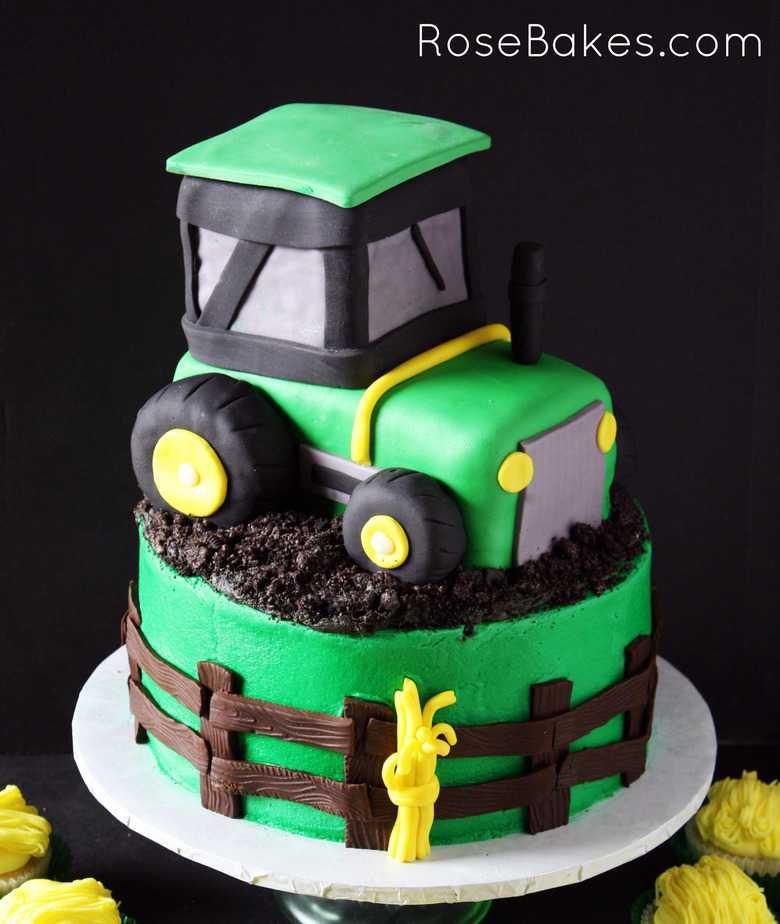 Marvelous John Deere Green Tractor Cake Hay Bale Cupcakes Funny Birthday Cards Online Amentibdeldamsfinfo