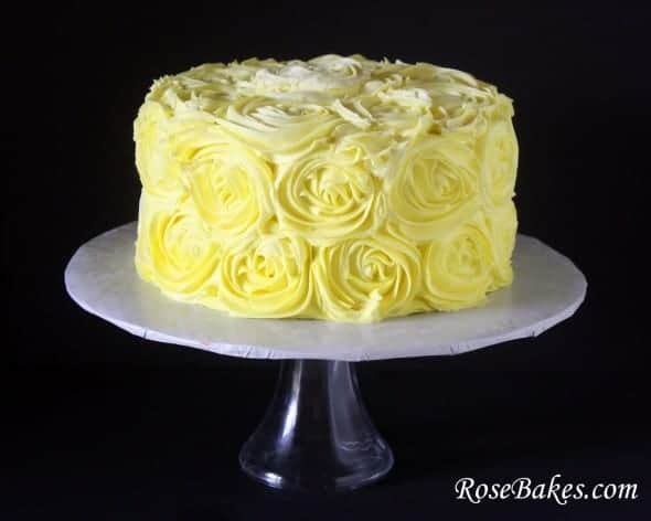 Yellow Birthday Cake with Chocolate Buttercream- I need to try this ...