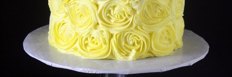 Ombre Yellow Buttercream Roses Birthday Cake