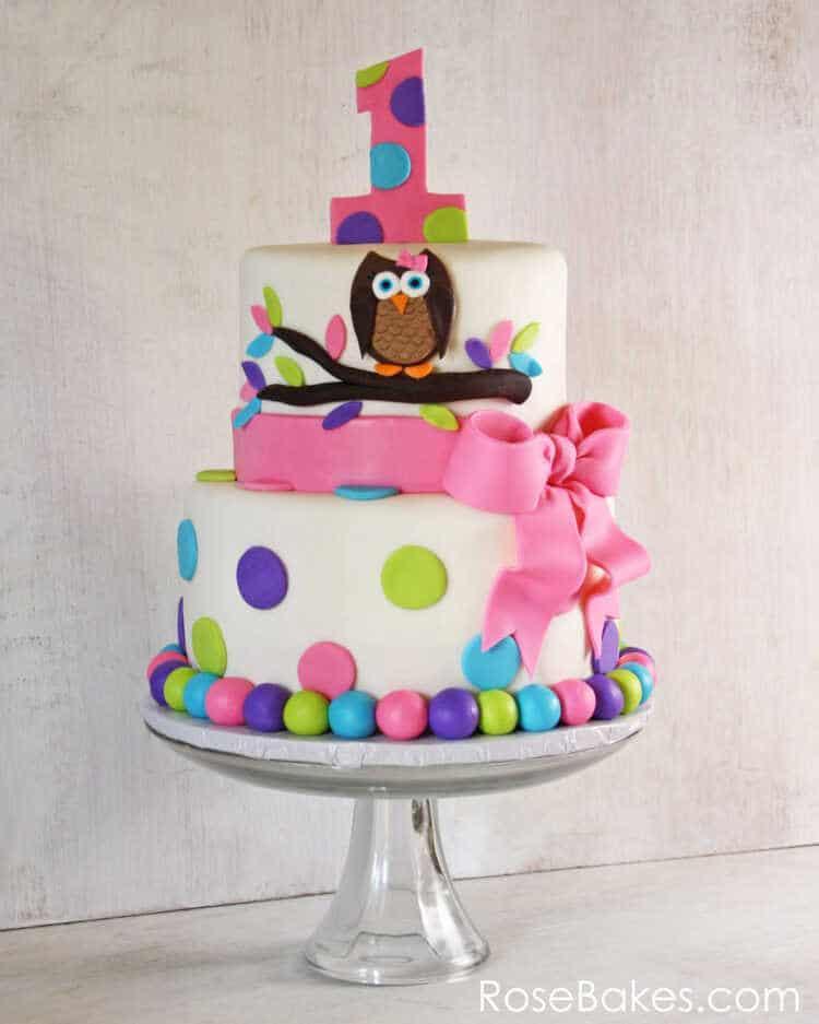 Owl Cake For Twins 1st Birthday + Smash Cakes