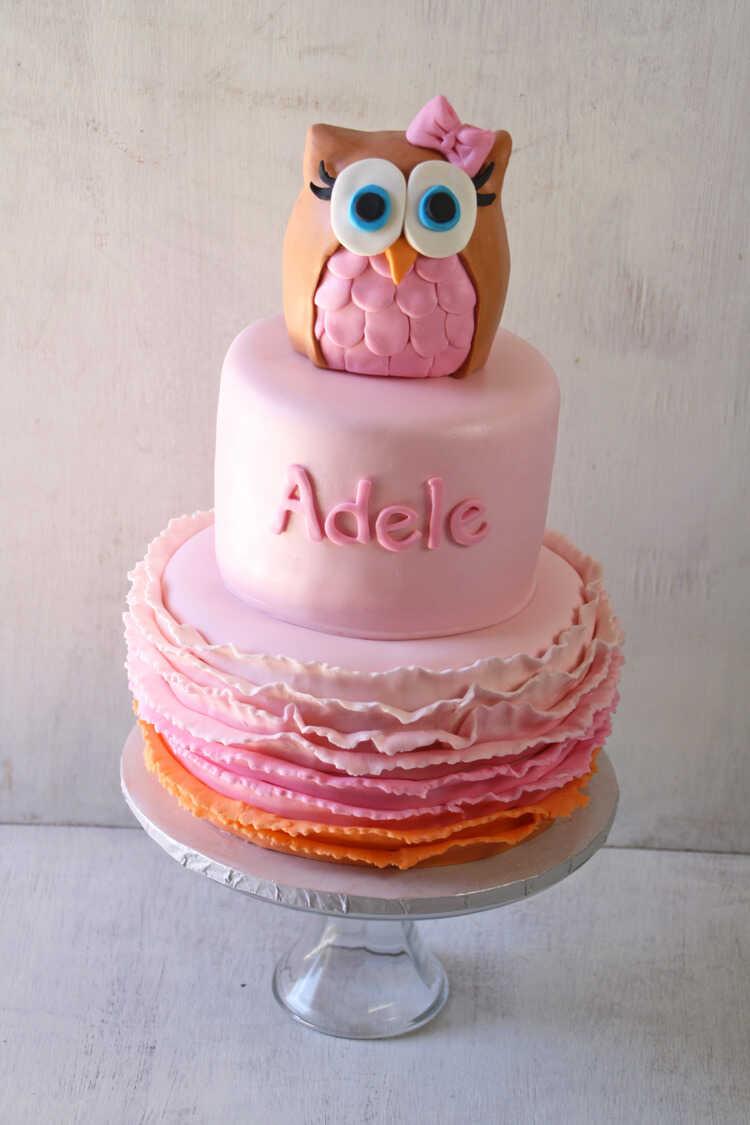 Owl Amp Lollipops Party Cake Smash Cake Cookies Amp Cake Pops