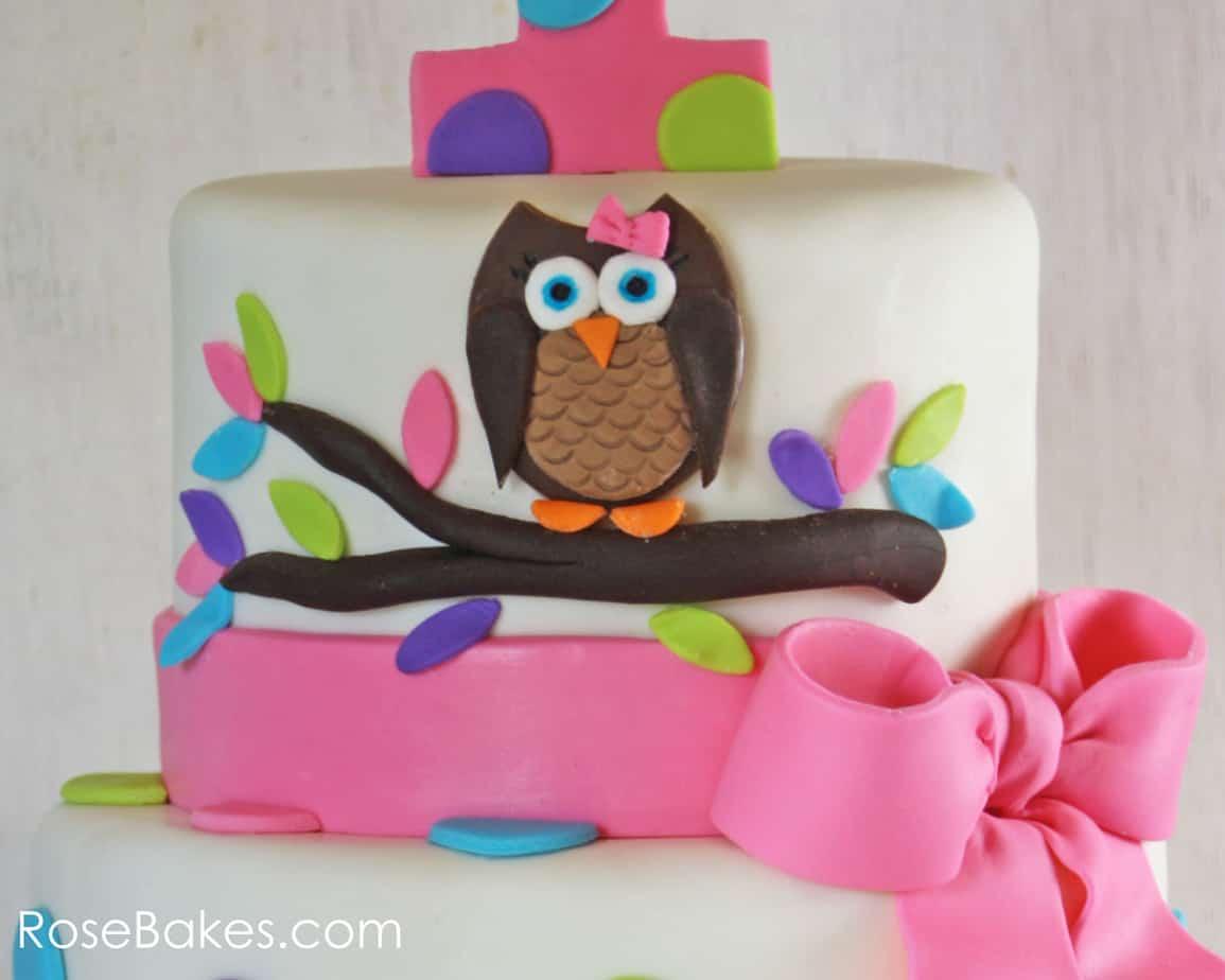 Swell Owl Cake For Twins 1St Birthday Smash Cakes Personalised Birthday Cards Akebfashionlily Jamesorg