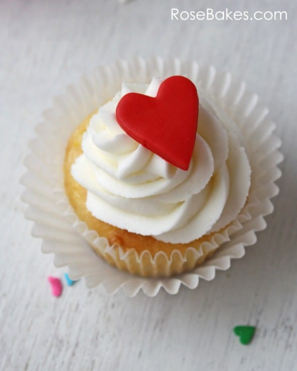 Red Heart Valentines Cupcake