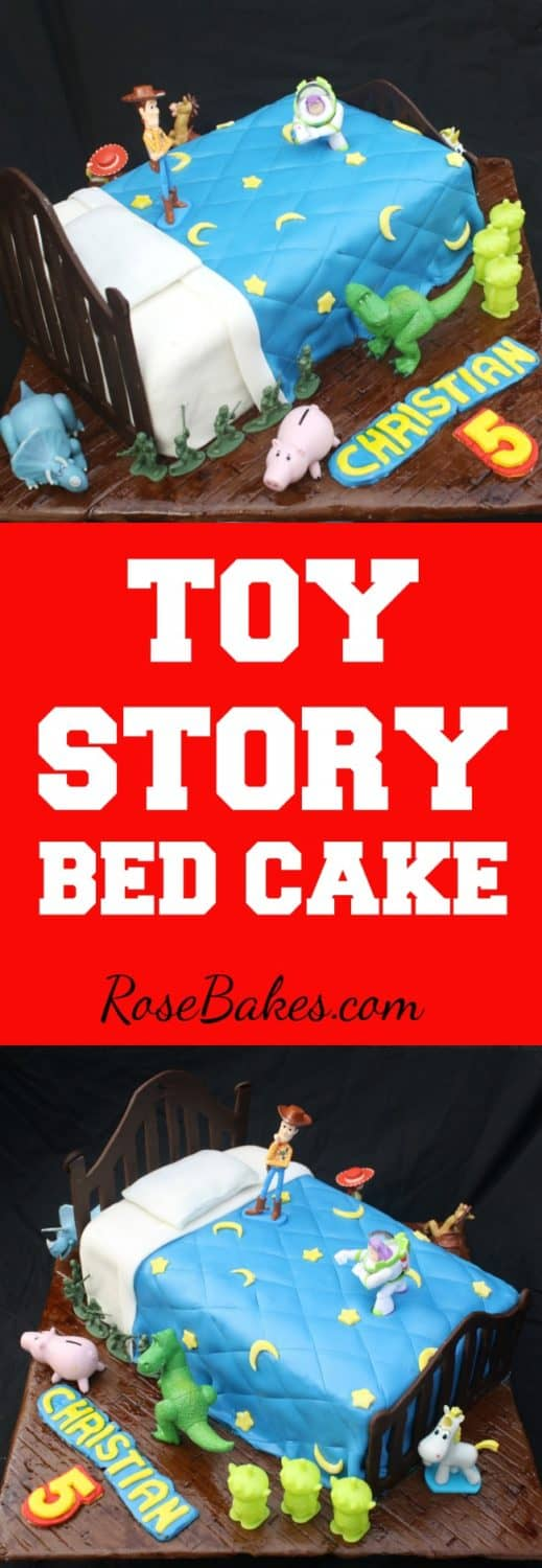 Toy Story Bed Cake by RoseBakes