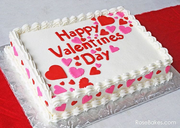 13+ Valentine's Cakes | Simple Valentine's Day Sheet Cake