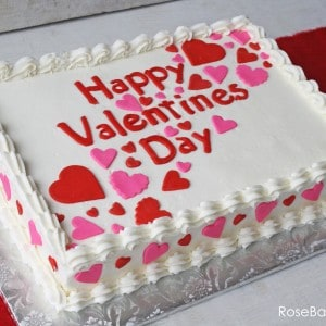 Valentines Day Sheet Cake