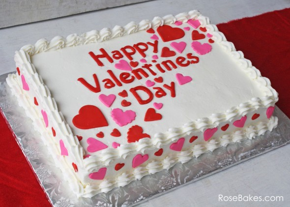 Happy Valentine s Day: A Simple Valentines Sheet Cake
