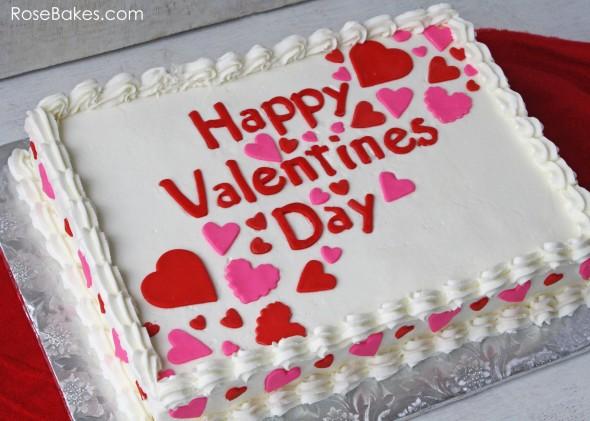 Valentines Sheet Cake