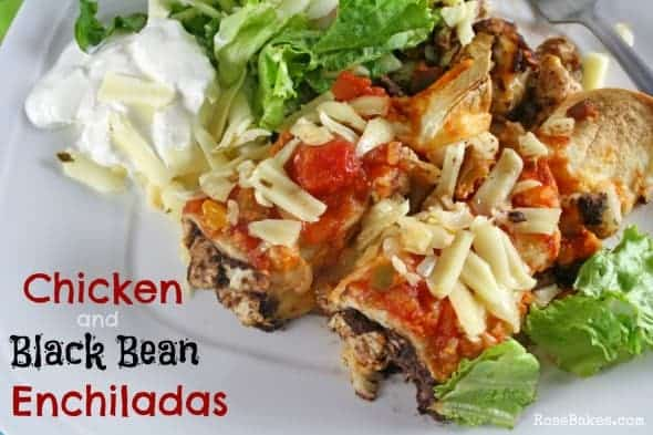 Chicken and Black Bean Enchiladas Recipe + The Newlyweds Cookbook Giveaway