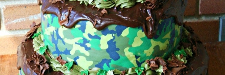 Camouflage Grooms Cake with Mud Ganache