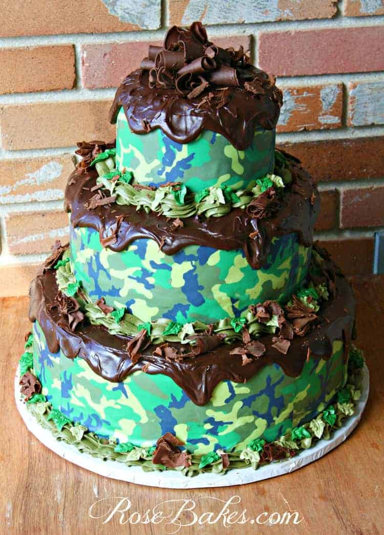 Camouflage Groom S Cake