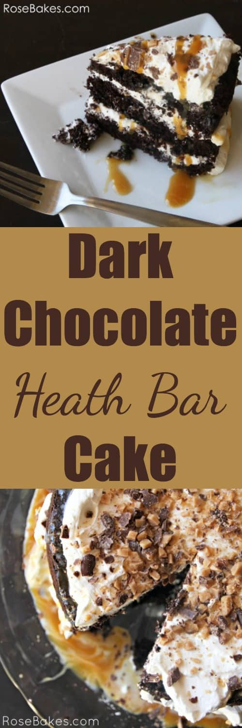 Dark Chocolate Heath Bar Cake