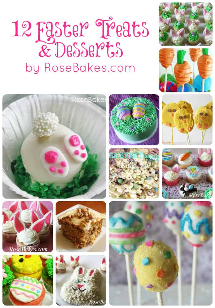Easter Treats & Desserts Collage