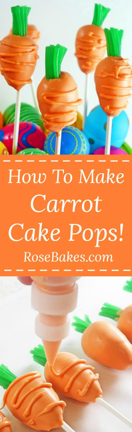 How to Make Carrot Cake Pops Tutorial by RoseBakes