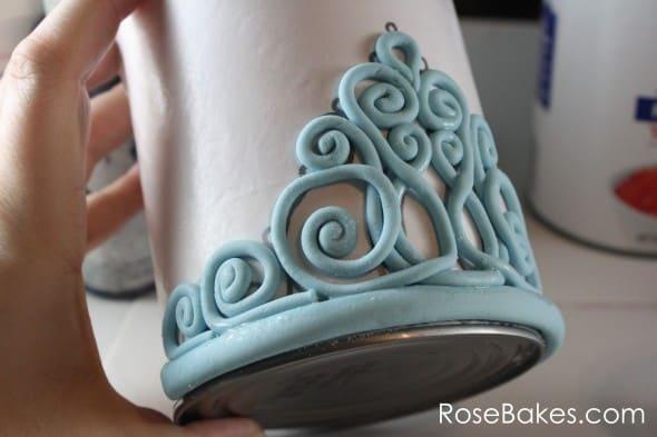 how to make a gum paste tiara  step
