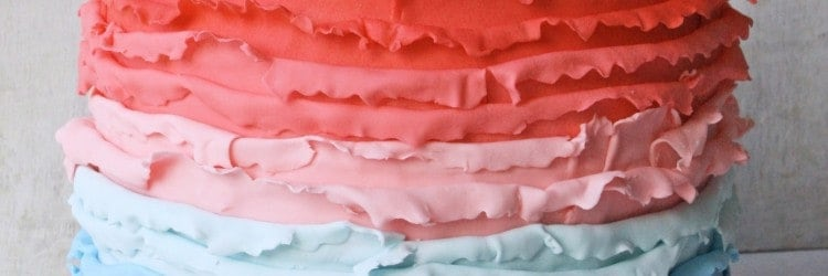 Ombre Ruffles Princess Cake Front ed