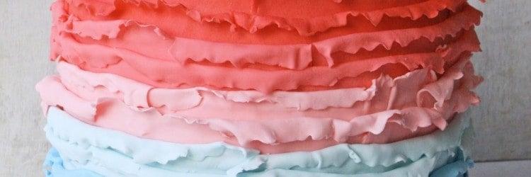 Ombre Ruffles Princess Cake Front ed