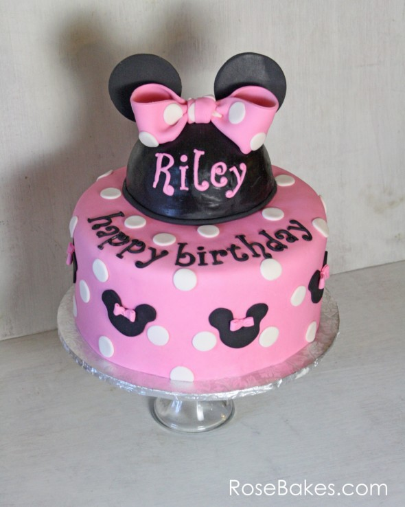Terrific Pink Minnie Mouse Birthday Cake Funny Birthday Cards Online Overcheapnameinfo