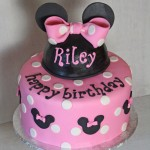 Pink Minnie Mouse Birthday Cake