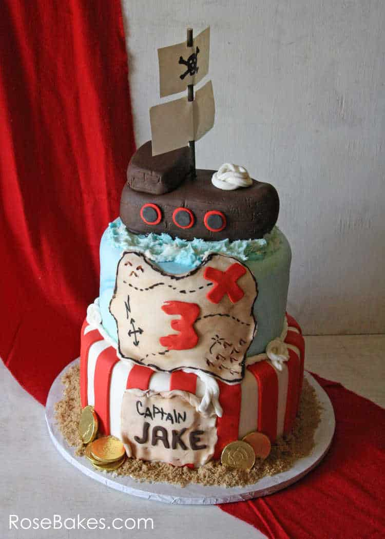 Jake S Pirate Ship Cake Rose Bakes