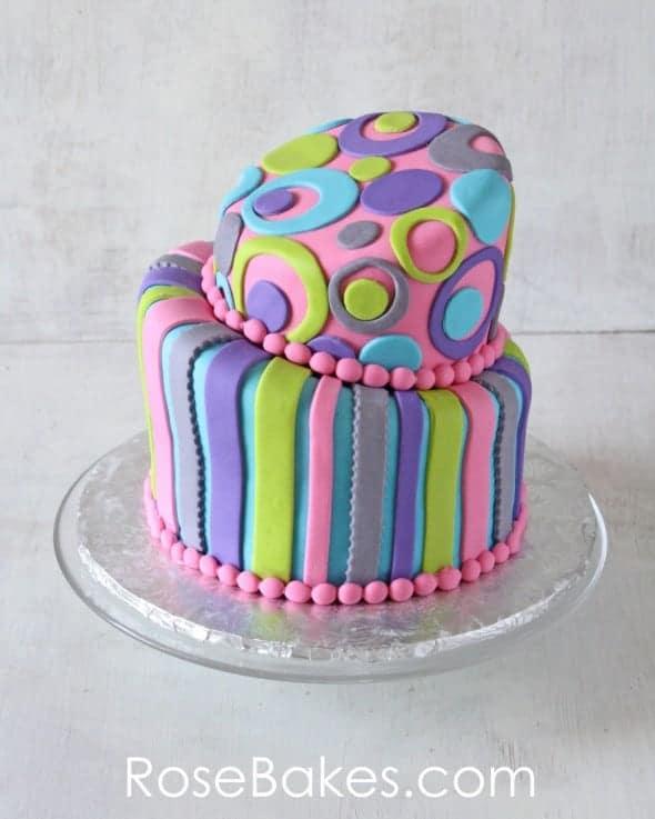 Retro Topsy Turvy Cake