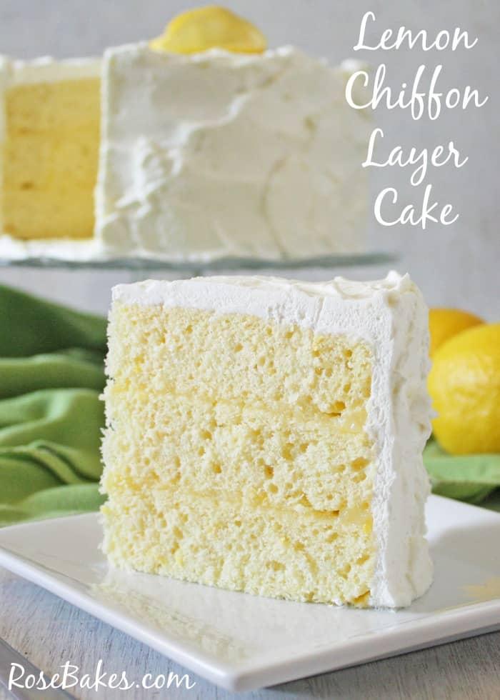 Slice of Lemon Chiffon Layer Cake WM