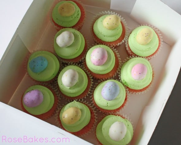 Strawberry Easter Cupcakes