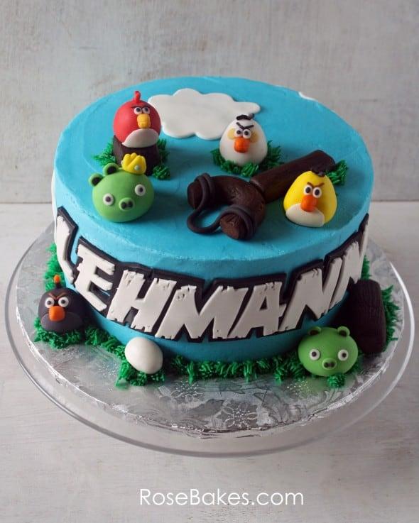 Angry Birds Cake for Lehmann