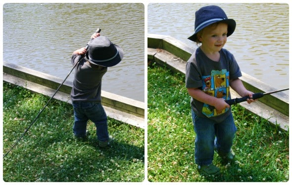 Asher Fishing Collage