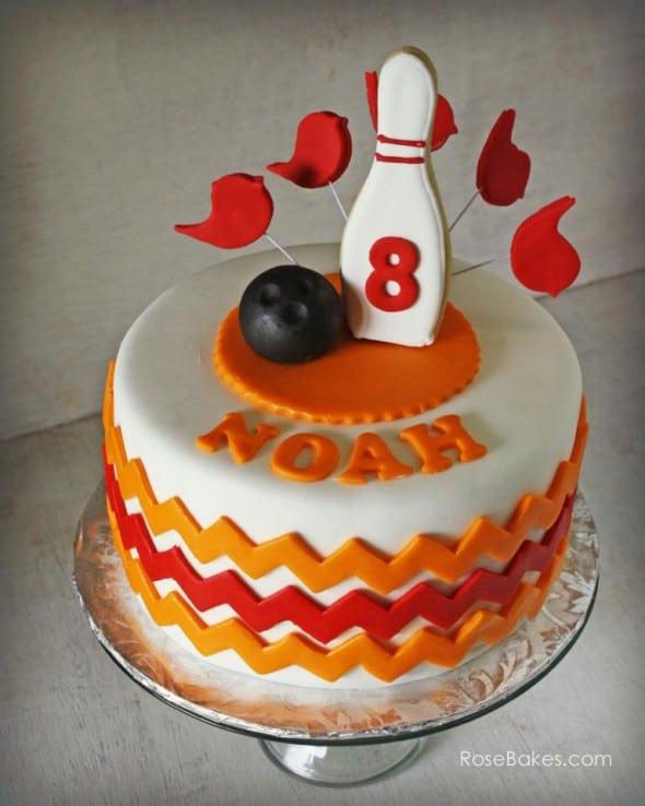 Boys Bowling Cake