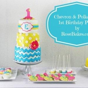 Chevron & Polka Dots 1st Birthday Party Bright