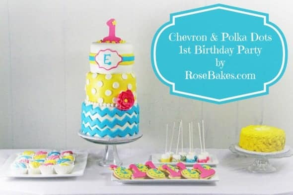 Chevron & Polka Dots 1st Birthday Party Bright