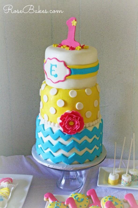 Chevron Polka Dots Cake NW