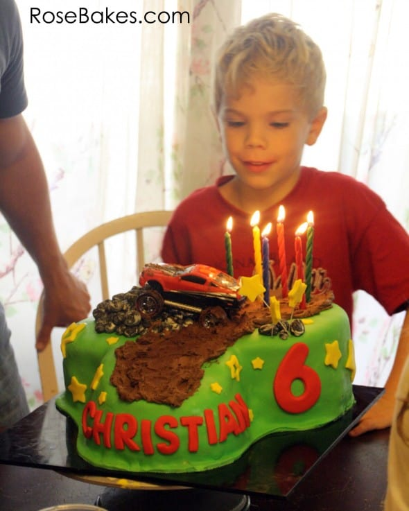 Christian with Mud Riding Cake