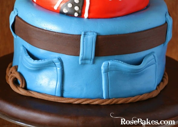 Cowboy Western Cake Blue Jeans Back Pockets