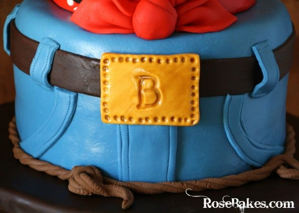 Cowboy Western Birthday Cake with Jeans Bandana and Cowboy Hat