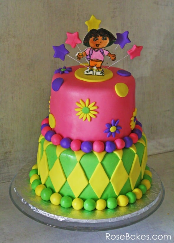 Dora the Explorer Cake Rose Bakes