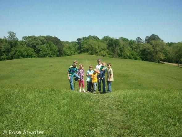 Family at Emerald Mound
