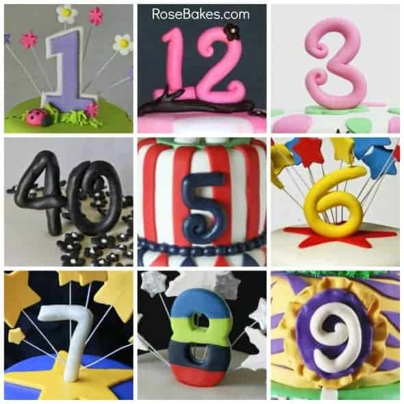 Fondant Numbers Collage