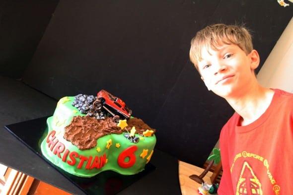 Joshua Helped with Cake